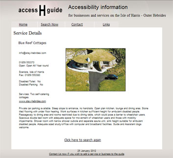 Access Harris Guide for visitors