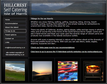 Isle of Harris self catering accommodation