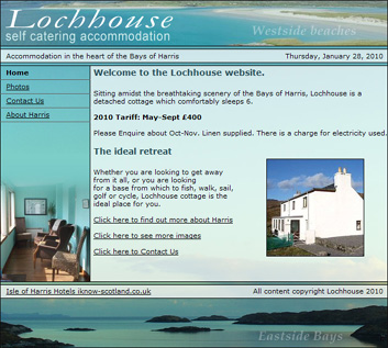 Self catering accommodation in the Bays of Harris