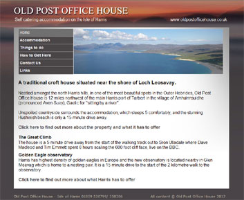 self catering accommodation Isle of Harris